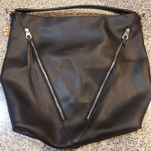 Handbags - David Jones Black Leather bag